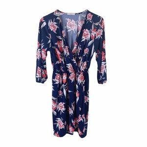 Gilli | Women's Floral Jersey Wrap Midi Dress